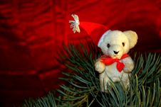 Free Christmas Teddy Royalty Free Stock Photography - 17113007