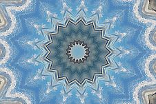 Free Snowflake Blue Star Kaleidoscope Pattern Royalty Free Stock Images - 17114349