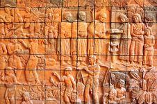 Free Stone Mural. Stock Image - 17114351