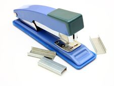Free Blue Strip Stapler Stock Images - 17114814