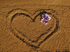 Free Heart On Sand Stock Image - 17115471