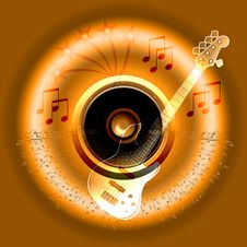 Banner Music Notes Royalty Free Stock Images