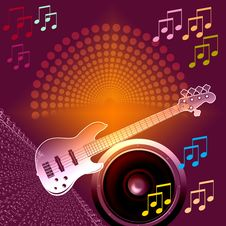 Free Banner Music Notes Royalty Free Stock Photography - 17115587