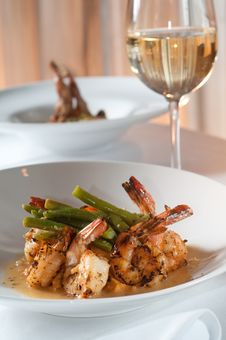 Free Pan Fried Shrimp And Grits Stock Photography - 17115712