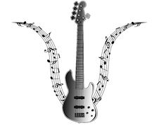 Guitar Music Notes Stock Images