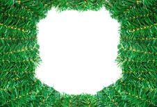 Free Christmas Frame Isolated On White Background Royalty Free Stock Photo - 17116015