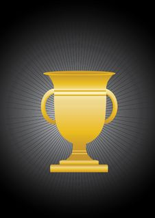 Gold Goblet Royalty Free Stock Photography