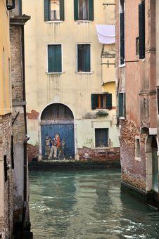 Venetian Narrow Channel Royalty Free Stock Image