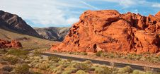 Free Valley Of Fire Morning Panorama Stock Images - 17117644
