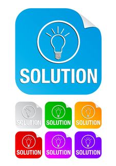 Free Solution, Square Stickers Stock Photography - 17117732