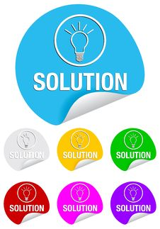 Free Solution,round Stickers Royalty Free Stock Image - 17117756