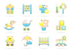 Free Children Icons Stock Images - 17117764