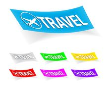 Free Travel, Stickers Stock Photography - 17117832