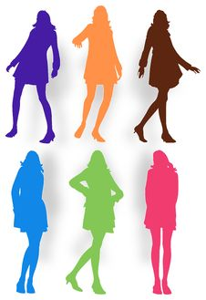 Posing Women Illustration Royalty Free Stock Photography