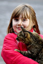 Free Girl With Cat Stock Image - 17126441