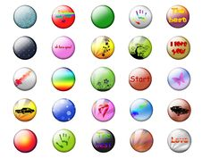 Free Bright Buttons On A White Background Stock Photos - 17121453