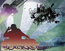 Free Dj Man Playing Tunes With Music Stock Image - 17121501