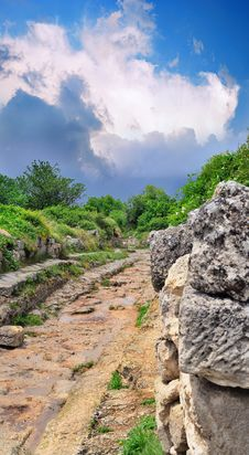 Free Ancient Roman Road In The Mountains Stock Photography - 17122962