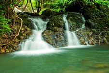Free Beautiful Waterfall In Thailand Royalty Free Stock Images - 17123689
