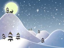 Free Christmas Landscape Royalty Free Stock Images - 17123719