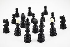 Free Chess Game Figurines Royalty Free Stock Photos - 17123808