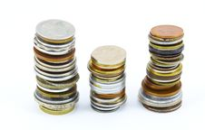 Different Money Coins Stock Photos