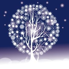 Free Snowflakes Tree Stock Image - 17124151