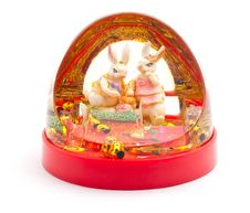 Free Christmas Toy With Two Rabbits Royalty Free Stock Photos - 17124538