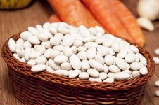 Haricot Bean And Fresh Vegetables Royalty Free Stock Photo