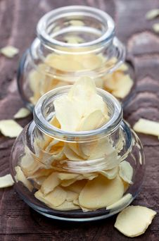 Free Garlic Flakes In A Glass Royalty Free Stock Image - 17124876