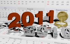 Free The New Calender Year 2011 Royalty Free Stock Image - 17124886