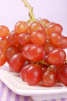 Free Italian Red Table Grape Stock Photo - 17125270
