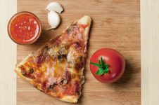 Free Pizza Slice And Sauce Royalty Free Stock Photos - 17125518