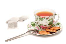 Light Tea-drinking Stock Images