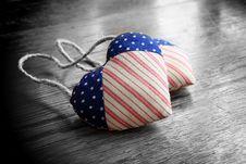 Free Patriotic Hearts Royalty Free Stock Photo - 17126365