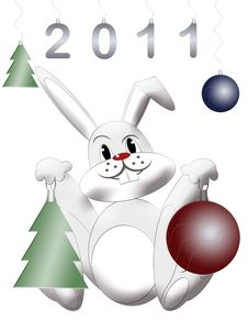 White Rabbit Symbol East Chinese New 2011 Year Stock Image