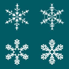 Free Snowflakes Background Royalty Free Stock Images - 17128149
