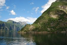 Free View Over The Fjord Geiranger In Norway Stock Images - 17128264