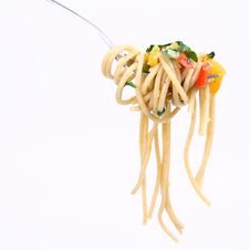 Free Spaghetti On A Fork Stock Photos - 17128803