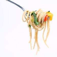 Free Spaghetti On A Fork Stock Images - 17128814