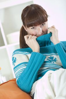 Free Woman In Knit Jumper Stock Photo - 17129210