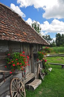 Traditional Village House Stock Images