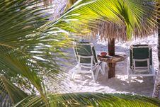 Free Two Beach Chairs Through The Trees Stock Photos - 17129613