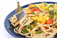 Spaghetti With Vegetables Royalty Free Stock Photography