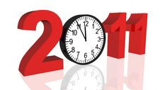 Free New Year 2011 Royalty Free Stock Photos - 17129958