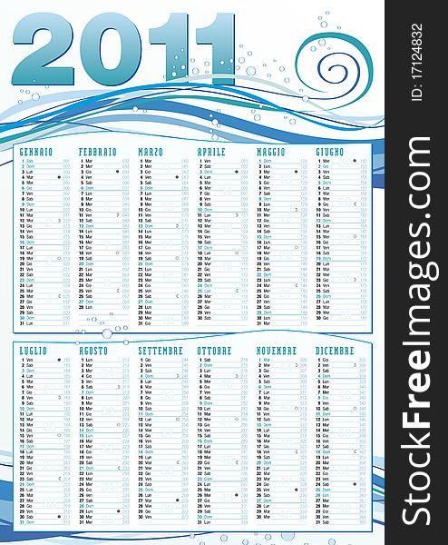2011 sea mood calendar