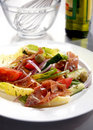Free Green Salad With Prosciutto Royalty Free Stock Photography - 17132387