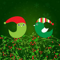 Free Vintage Christmas Card With Holly Berry Royalty Free Stock Image - 17135986