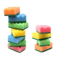 Two Heaps Of Colorful Sponges