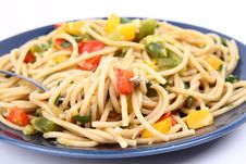Free Spaghetti With Vegetables Royalty Free Stock Photo - 17130245